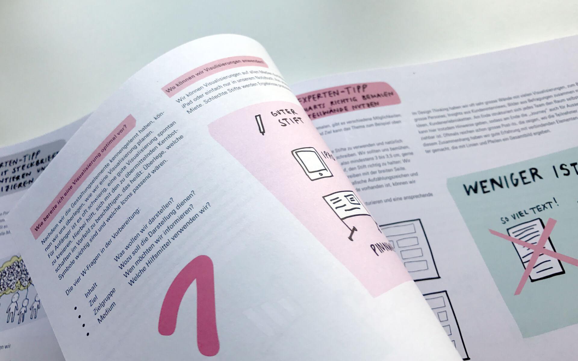 matter of design, Buch-Review, Das Design Thinking Playbook, Beispielseite