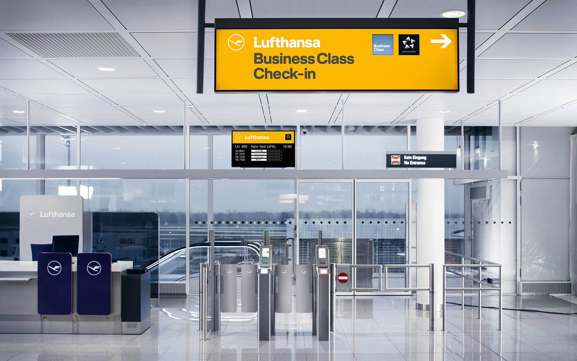 Lufthansa Corporate Design 2018, Redesign, Interior, Signage