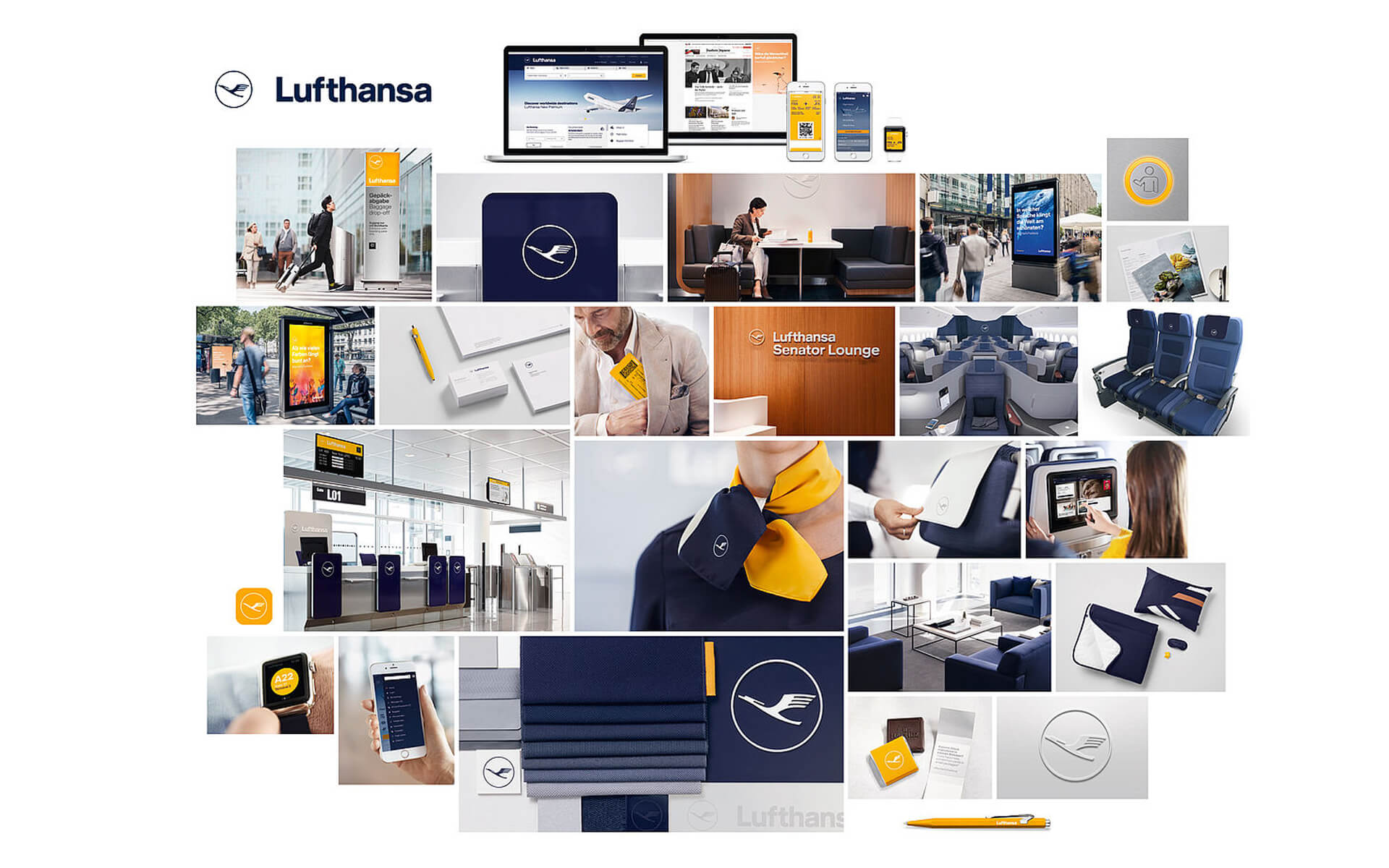 Lufthansa Corporate Design 2018, Medien