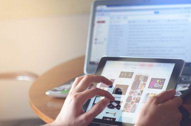 Programmatic Advertising auf einem Tablet