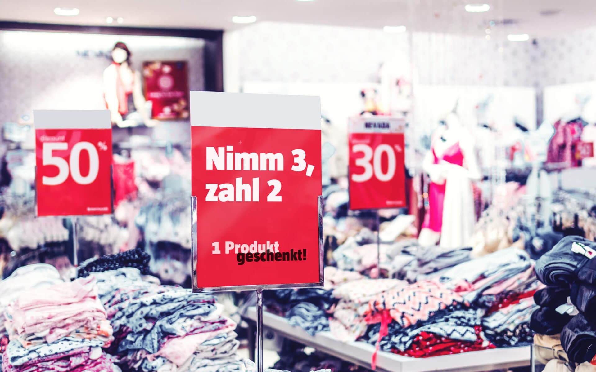 Nimm 3, zahl 2 – Der Ankereffekt im Retail